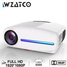 WZATCO C2 1920*1080P Full HD LED Projector with 4D Digital Keystone 6500Lumens H