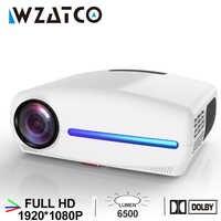 WZATCO C2 1920*1080P vidéoprojecteur full hd LED avec clé de voûte numérique 4D 6500Lumens Home cinéma Portable HDMI projecteur LED Proyector