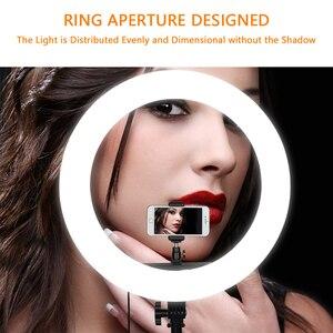 Image 5 - Capsaver RL 18 led リングライト 18 インチの化粧ランプ三脚ミラー高 cri led 5500 18k カメラ写真 youtuber スタジオビデオランプ