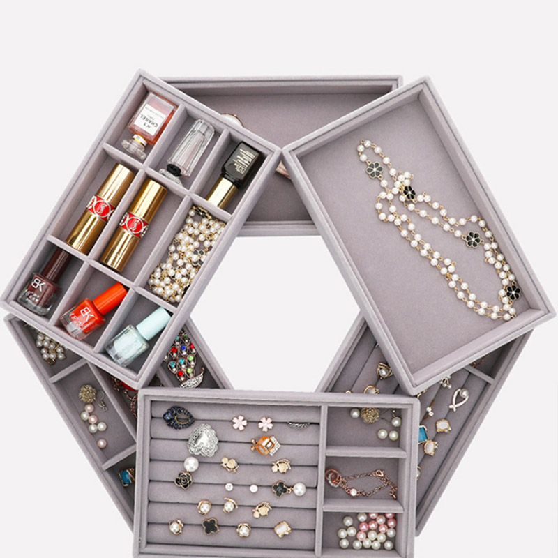 New Jewellery Organizer Earring Holder Drawer DIY Jewelry Storage Tray Ring Bracelet Gift Box Small Size Fit Most Room Space