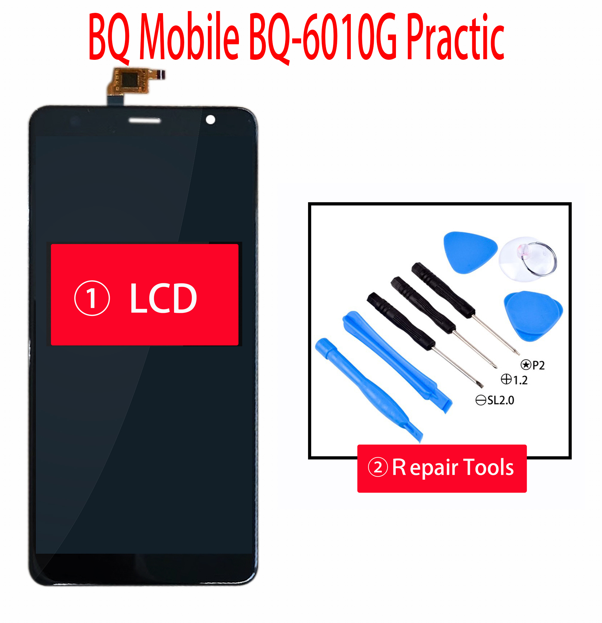 ORIGINAL 6.0 Inch For <font><b>BQ</b></font> Mobile <font><b>BQ</b></font>-<font><b>6010G</b></font> Practic <font><b>BQ</b></font>-<font><b>6010G</b></font> <font><b>BQ</b></font>-6010 LCD Display + Touch Screen Digiziter Assembly With Tools image