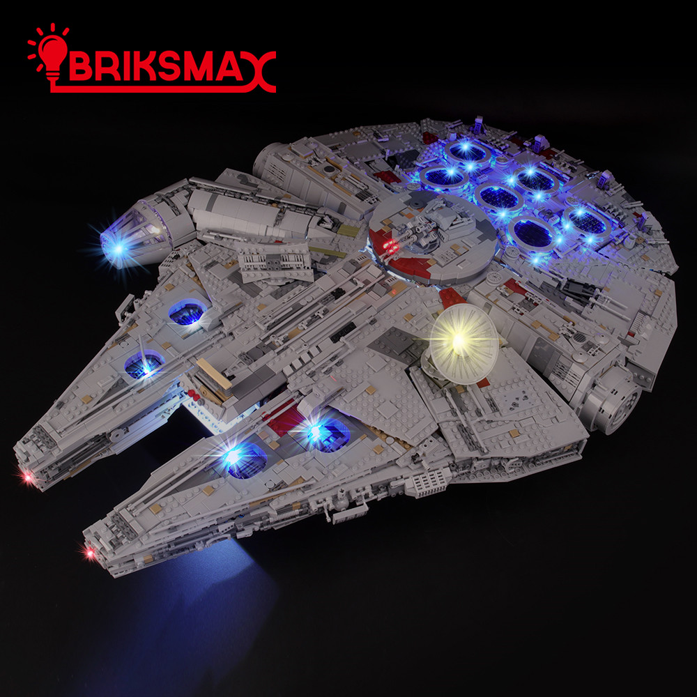 BriksMax Light Kit For Legoes Ultimate Millennium Falcon Blocks Lighting Set Compatible With 75192 (NOT Include The Model)