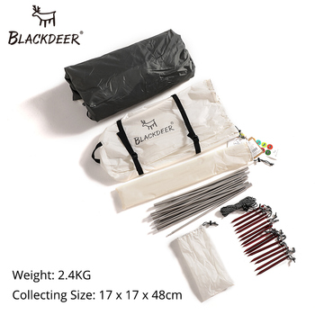 BLACKDEER Outdoor Camping  Backpack Tent Double Layer Water Resistant Aluminum alloy Pole Fishing Hunting Adventure Family Party 5