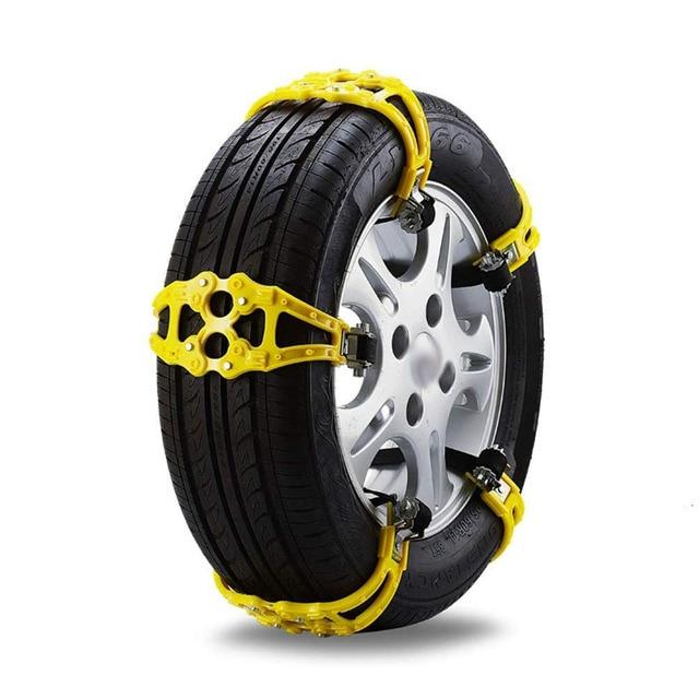 2PCS Car Anti-Skid Snow Chains Auto SUV Tire Wheel Winter Mud Roadway Safety Anti Slip Emergency Security TPU Belt