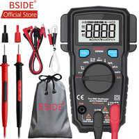 BSIDE ADM66 True RMS Digital-Multimeter Auto Range TRMS Mini 6000 DMM Dual Slot Kapazität ohm Hz Temp NCV Diode tasche Tester