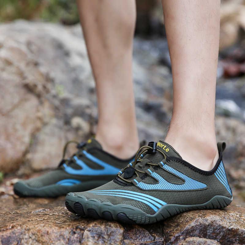Delle Donne degli uomini di Scarpe di Acqua All'aperto Sulla Spiaggia di Nuoto Aqua Calzini e Calzettoni Quick-Dry A Piedi Nudi scarpe Sportive Da Trekking Aqua Scarpe Da Ginnastica di Coppia scarpe da passeggio