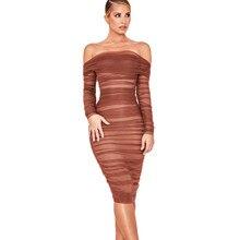 Sheath Dress Mesh Club Strapless Deive Teger Off-The-Shoulder Draped Vestidos Sexy Women