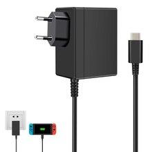 EU/USปลั๊กอะแดปเตอร์ACสำหรับNintendo Switch NS 1.5A 2.6A Travel ChargerสำหรับNintendo USB Type C