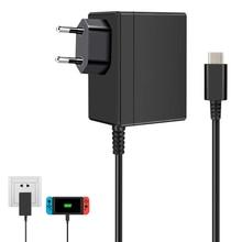 Ue/eua plug adaptador ac carregador para nintendo switch ns 1.5a 2.6a carregador de viagem para nintend carregamento usb tipo c fonte alimentação