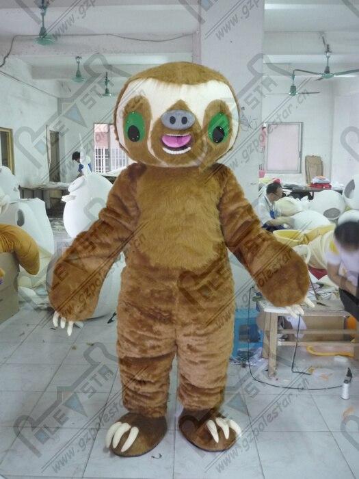 quality plush fur sloth mascot  costumes cartoon wild animals mascot design