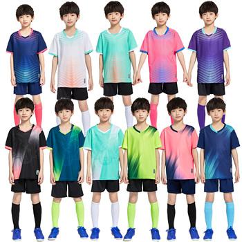 Chłopcy koszulki piłkarskie dres dzieci piłka nożna mundury sportowe dzieci bawią się piłka odzież sportowa zestawy dziecięca koszulka piłkarska garnitur tanie i dobre opinie NoEnName_Null Dobrze pasuje do rozmiaru wybierz swój normalny rozmiar CN (pochodzenie) POLIESTER SHORT K8836 K8835 K8833