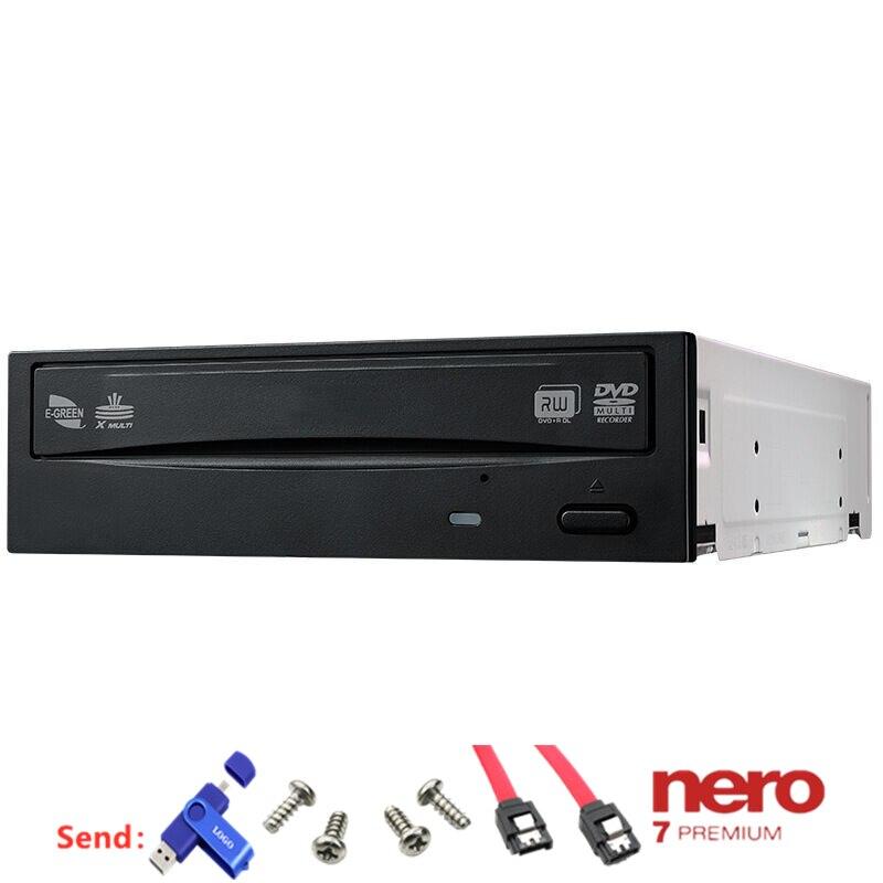 Универсальный для Asus DRW-2014L1T встроенный жесткий диск SATA 24x DVD и CD черный подходит для настольного компьютера без привода