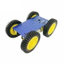 Robot en métal 4 roues motrices arduino uno r3, avec quatre roues motorisées TT, pour bricolage, enseignement et simulateur de voiture