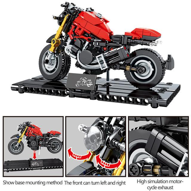 Creator DIY Motorbike Building Blocks for  City MOC Technic Motorcycle Motor Car Model Bricks Educational Toy for Boys