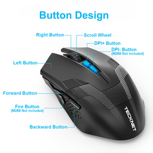 Image 2 - TeckNet 7000DPI Programmable Gaming Mouses Professional Gamer Mouse RAPTOR Pro Adjustment 8 DPI Level Gamer Mice for PC Laptop