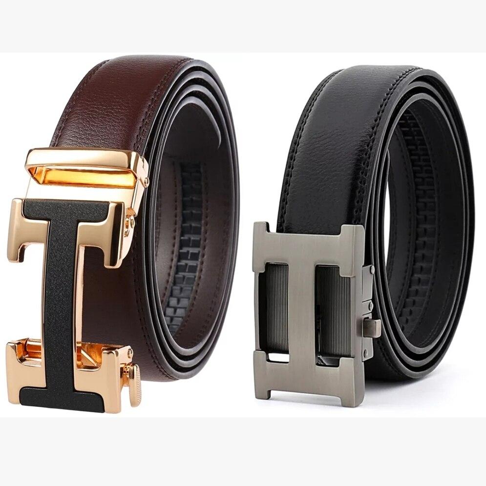 Male Belt New Designer Men's Belts Luxury Genuine Leather Fashion Belt Luxury Brand For Men High Quality Automatic Buckle