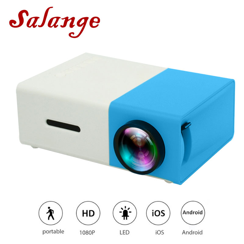 Salange YG300 Pico projecteur 500 lumen 3.5mm Audio 320x240 Pixels HDMI USB Mini projecteur lecteur multimédia à domicile