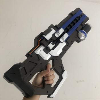 [Hot] Big size symulacja OW gra bohater żołnierz 76 Prop broń D va kostium Prop nadgarstek pistolet broń cosplay model zabawkowy prezent tanie i dobre opinie Cudgel hammer Diecast 6 lat Unisex