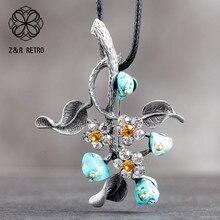 Цветной цветок, женский кулон, ювелирное украшение на шею, аксессуары для украшения, бижутерия, подарок, большое массивное ожерелье для женщ...