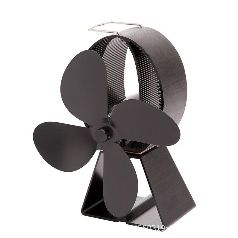 1 шт. тепловое питание 4 листья плита вентилятор для камина термостойкий энергосберегающий вентилятор