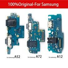 100% оригинальная плата USB-порта для зарядки, гибкий кабель для Samsung A9 A7 2018 A920 A750F A02s A 01 11 12 21 21S 31 41 51 71 S20 A52 A72