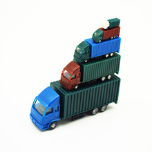 Multiple Ratios Model Car Container Truck Toys ABS Plastic For Train Layout 10pcs Sand Table Mini Simulation Building Diorama