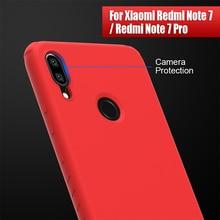 Redmi nota 7 caso capa nillkin silicone suave protetor de volta caso para xiaomi redmi nota 7 pro caso versão global 6.3/6.53