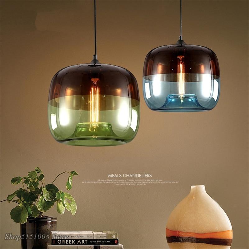 Скандинавские современные подвесные светильники из ялового стекла, промышленные подвесные светильники для кухни, светодиодные светильники для гостиной, домашний декор, светильники|Подвесные светильники|   | АлиЭкспресс - Красивое освещение с Али
