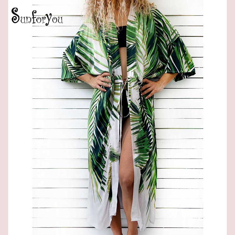 Cotton Beach Cover Up Print Bathing Suit Cover Up Swimwear Women Summer Dress Kaftan Robe De Plage Saida De Praia Tunics Pareo