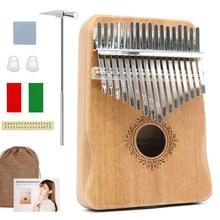 Kalimba 17 Tasti Pollice Pianoforte di Alta Qualità In Legno di Mogano Mbira Corpo Strumenti Musicali Kalimba Pianoforte Carillon Creativo