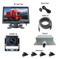 AHD 7 Visible Truck Electromagnetic Parking Sensor Kit Radar System Car Rear View Monitor Parking Rearview Reversing Camera