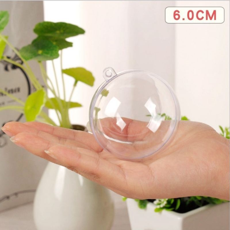5Pcs/Set Clear Round Heart Egg Shape Bath Bomb Mold Mould Plastic Ball Sphere Bath Bomb Accessories Fillable Ball DIY Bath Tool