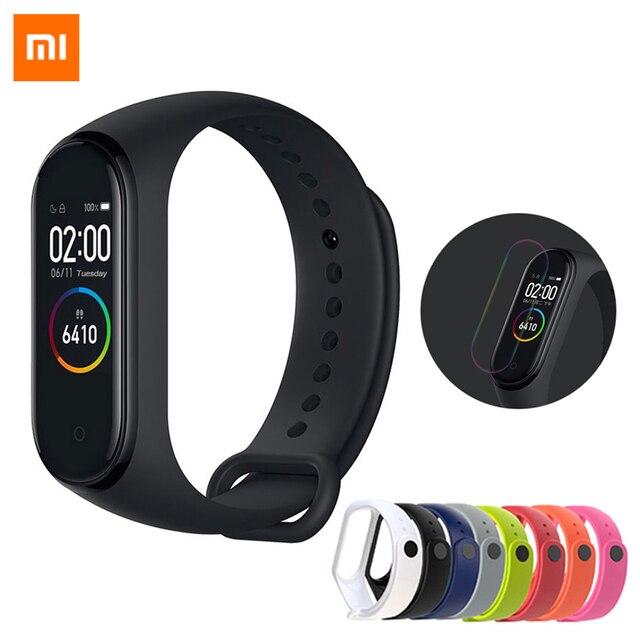 Xiao mi mi Band 4, ต้นฉบับ 2019 ใหม่ล่าสุดสมาร์ท mi band 4 สร้อยข้อมือ Heart Rate Fitness 135 mAh หน้าจอสีบลูทูธ 5.0