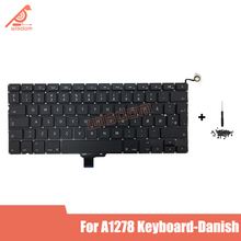Full New A1278 Danish Laptop keyboard For Macbook Pro 13 A1278 Danish keyboard 2009 2010 2011 2012 year new for macbook pro 13 a1278 topcase palm rest keyboard backlit us uk euro eu german french danish russian spanish 2011 2012