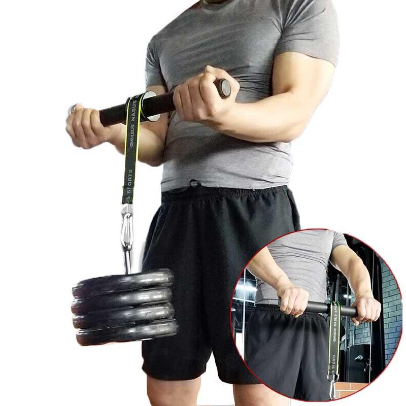 Тренажер для фитнеса в тренажерном зале, укрепляющий тренажер, защита для запястий для роликов, ручной захват, силовой тренажер, подъемная в