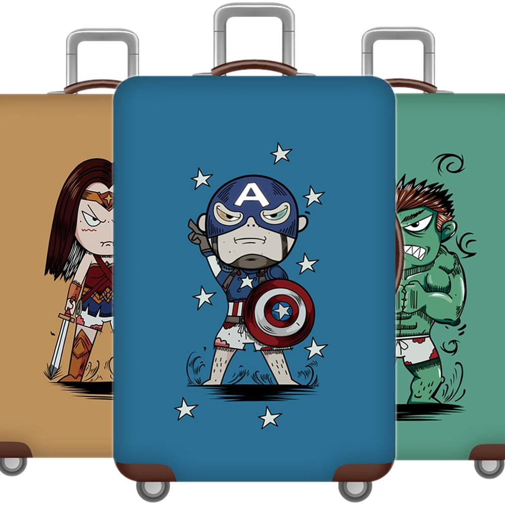 3D Cartoon Hero Luggage Cover Protective Case Cute Waterproof Thicken Elastic Suitcase Cover For 18-32 Inch XL Travel Accessorie