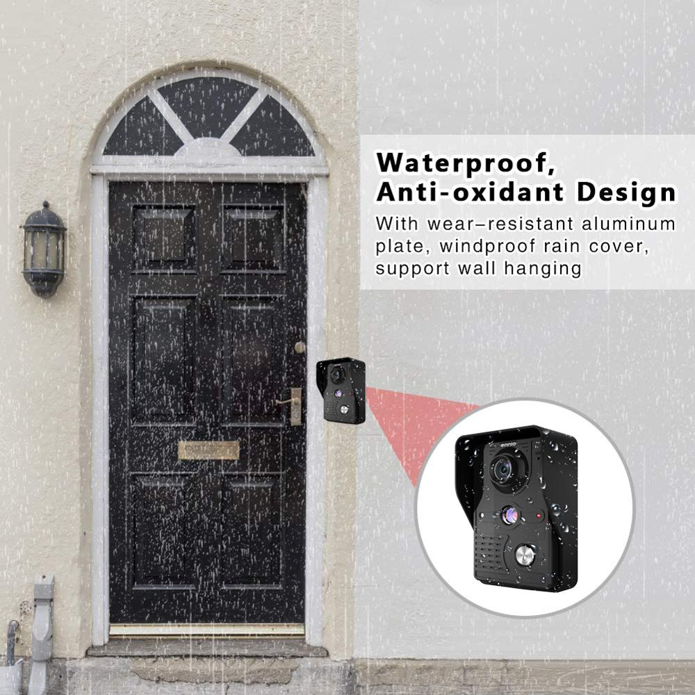 Video Door Intercom 7''Inch 2pc LCD Wired Video Door Phone Visual Video Intercom Doorbell Monitor Camera Kit For Home Security - 5