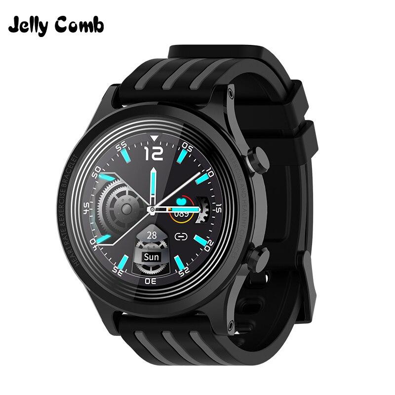 Jelly Comb 1.28'' Full Touch Screen Smart Watch IP68 Waterproof Heart Rate Blood Pressure Monitor Women Men Sport Smartwatch