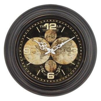 European Retro Wall Clock Metal Clock Mechanism Living Room Clocks Wall Home Decor Gift Reloj De Pared Home Decoration FZ519