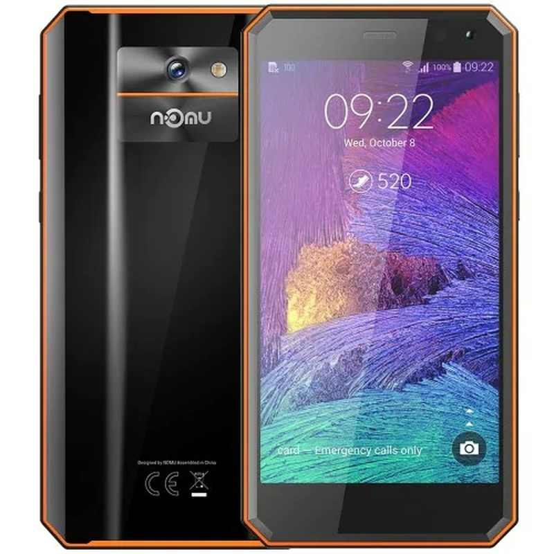 "Nomu M6 Smartphone Rugged 2GB RAM 16GB ROM IP68 Tahan Air 5.0 ""4G LTE MTK6737VWT Quad Core android 7.0 8.0MP Ponsel"