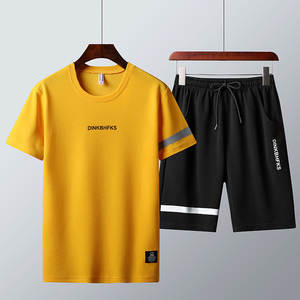 Suit Shorts-Sets Summer T-Shirts Fashion 2pc M-4XL