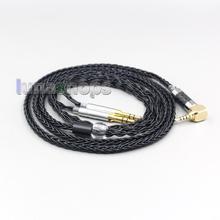 LN006426 8 rdzeń słuchawki kabel do słuchawek dla Denon AH D600 D7100 Hifiman Sundara Ananda HE1000se HE6se he400i he400se Arya