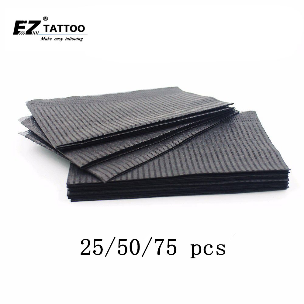 EZ Disposable Tattoo Cleaning Wipes Dental Piercing Bibs Waterproof Sheets Double Layer Sheets Tattoo Accessories 45*33cm