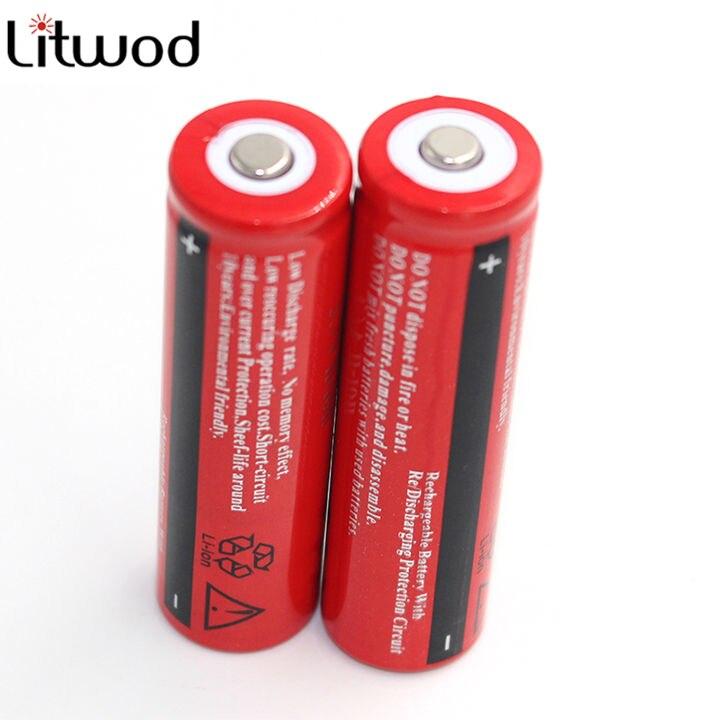 2 Pcs Original 18650 Battery 3.7V  Rechargeable Battery Batteries For Led Flashlight Headlight