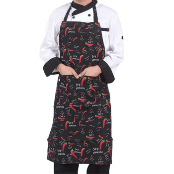 Adjustable Half-length Adult Apron Striped Hotel Restaurant Chef Waiter Apron Kitchen Cook Apron With 2 Pockets #BO 1