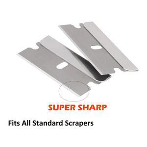 """Image 5 - EHDIS 100 adet 1.5 """"karbon çelik tıraş bıçağı + 2 adet jilet kazıyıcı vinil araç örtüsü aracı pencere tonu etiket çıkarıcı temiz aracı"""