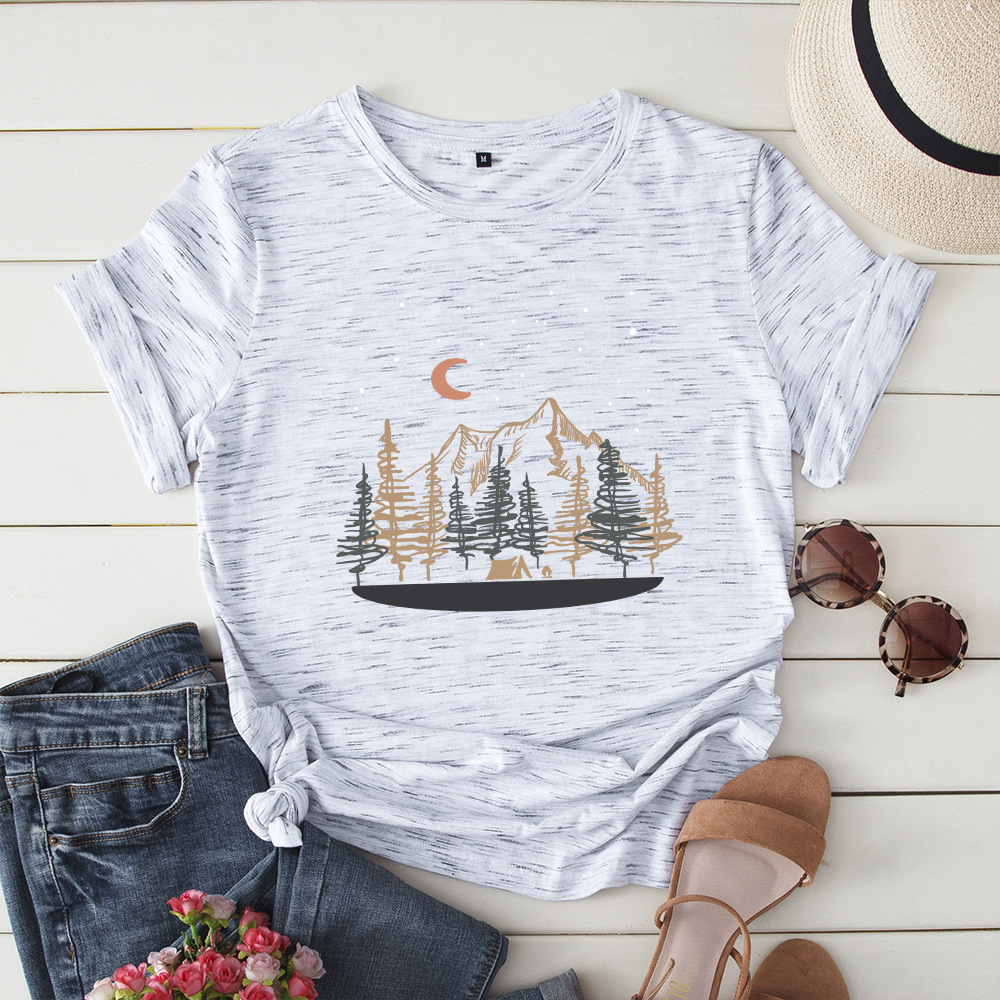2019 New Casual Women's T-shirt Stylish Comfortable Short-sleeved Exquisite