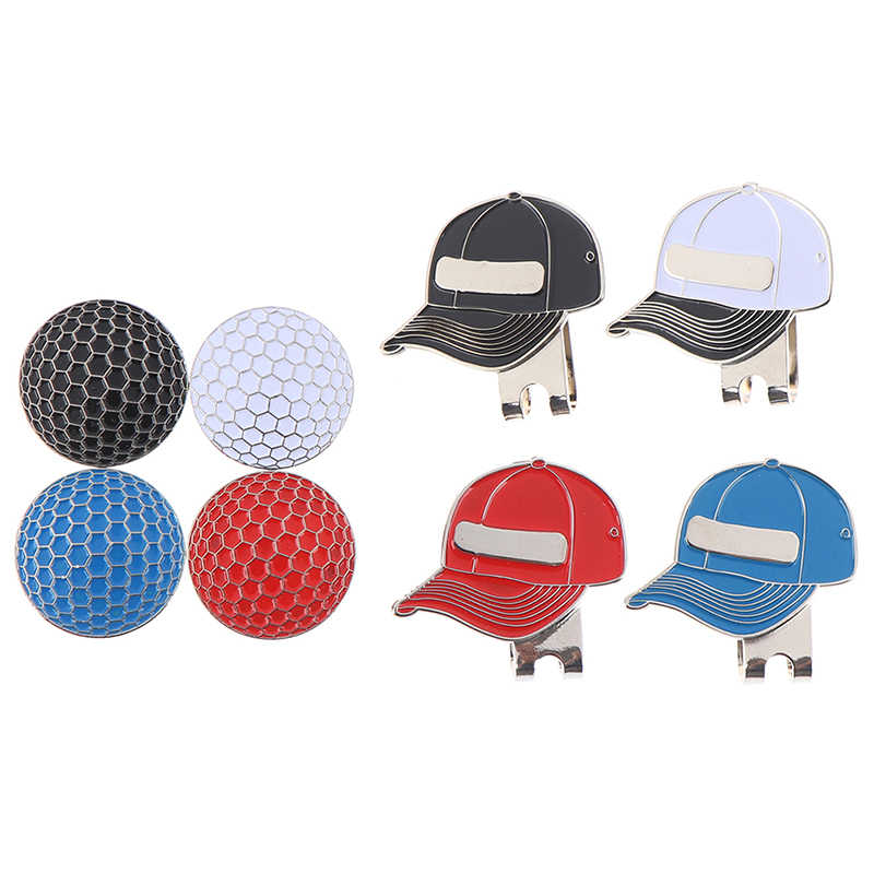 Golf Ball Mark with Golf Hat Clip Magnetic Outdoor Alloy golf marker supplies Accessories 3.5*3cm