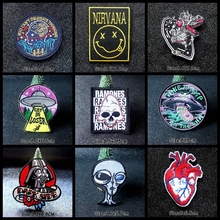 Nicediy Hippie UFO Alien Embroidery Patch Stripe Iron on Patches For Clothes Stranger Things Sticker Badge Washable Applique DIY