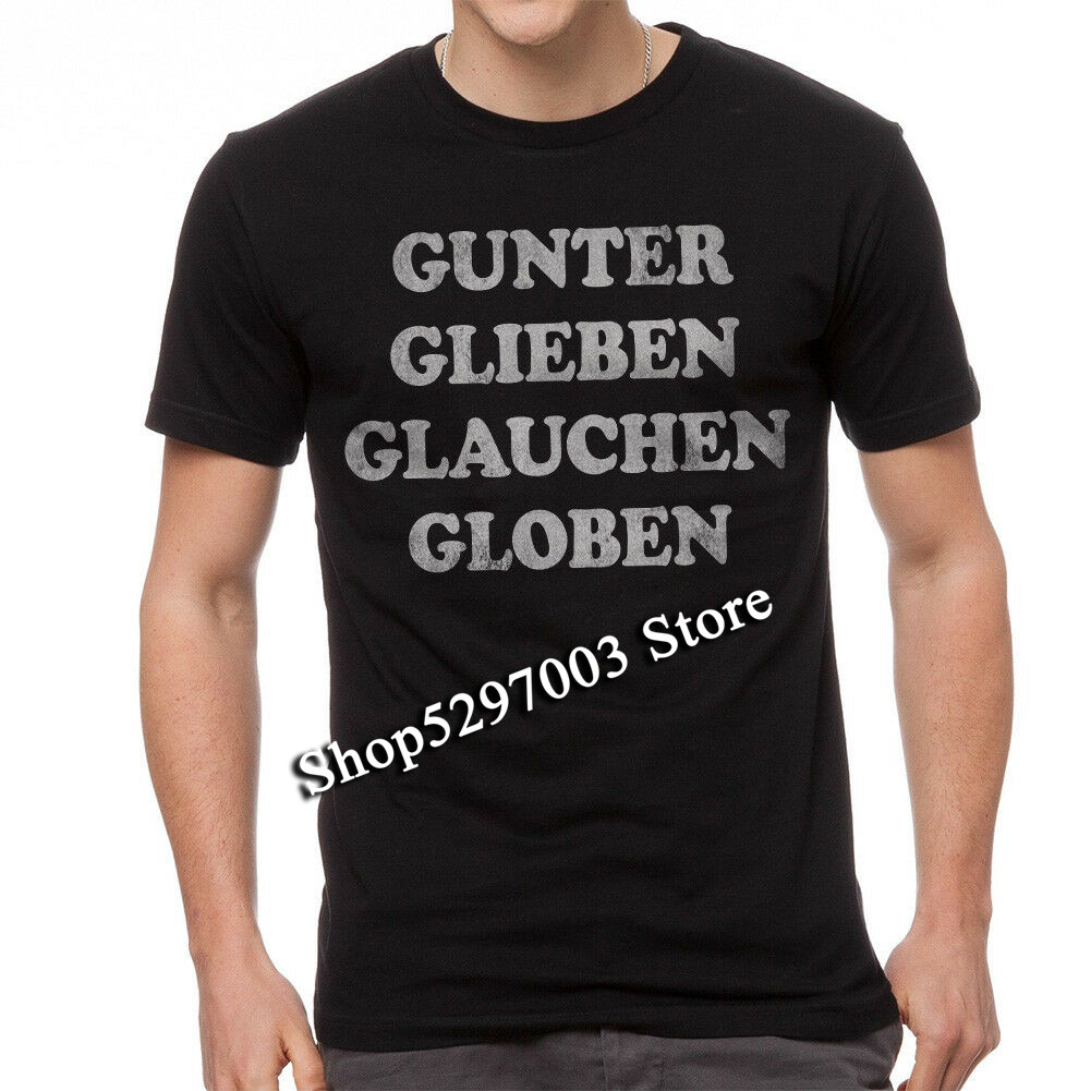 Gunter Glieben Glauchen Globen Rock Song Graphic Men'S Black T-Shirt M Xl 2Xl 12Xl Tee Shirt image